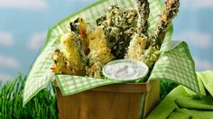 Green Garden Fries recipe and reviews - Fast food meets the backyard! These crispy green