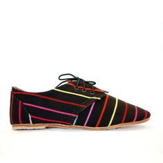 Rainbow Oxford Women's Black black, women's shoes, women's casual shoes #dental #poker
