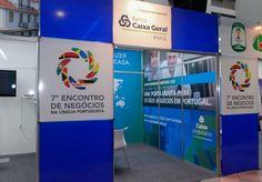O estande do Banco Caixa Geral (BCG) Brasil no 7º Encontro de Negócios na Língua Portuguesa, que aconteceu nos dias 22 e 23 de abril em Belo Horizonte