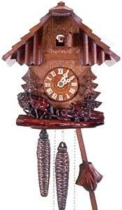 Cuckoo Clocks have origins in Black Forest, Germany. Today Black Forest Cuckoo Clocks are skilfully handcrafted by woodcarvers just as they were 200 years ago which makes it so special.