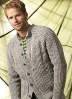Free Knitting Pattern - Men's Cardigans: Relief Detail Men's Cardigan