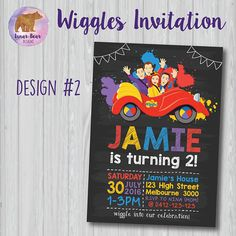 Wiggles Invitation Wiggles Birthday Party The Wiggles