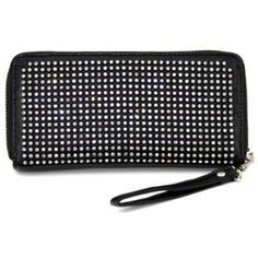 HOT HOT HOT Our #1 BESTSELLER BLING DOUBLE SIDED WALLET/WRISTLET w/ziptop by Jersey Bling: Amazon.com: Clothing