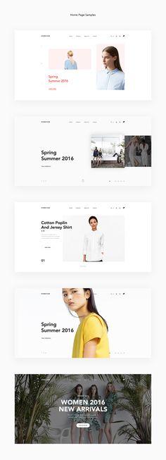 Forever Modern Fashion Theme UX / UI on Behance