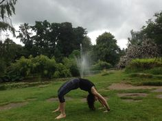 yoga helps to connect with nature. wheel pose