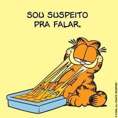 Quando cozinham pra você e perguntam se você gostou. | 12 reações do Garfield que poderiam facilmente ter vindo de você