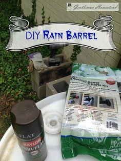 Simple DIY Rain Barrel from #gentlemanhomestead