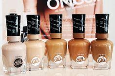 Sally Hansen Miracle Gel: Hybrid Gel-Polish Needs No Lamp + First Swatches Opi Gel Nails, Diy Nails, All Things Beauty, Girly Things, Sally Hansen Nails, Pedicure At Home, New Nail Polish, Nude Color, Perfect Nails