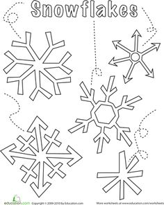 Worksheets: Snowflake Coloring Page for the bulletin board...would be cute to outline in glue and add glitter