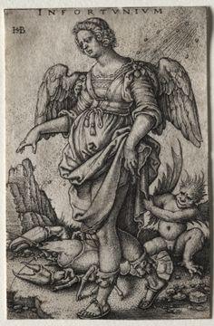 Hans Sebald Beham (1500-50) - Misfortune (Infortunium) engraving; Cleveland Museum of Art