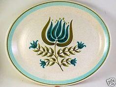 Franciscan-Tulip-Time-14-Platter-Pennsylvania-Dutch-Turquoise-White