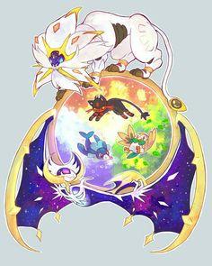 Lunaala, Solgaleo, Popplio, Litten, Rowlet, Starter Pokémon, Legendary Pokémon; Pokémon