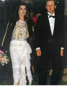 Caroline, (then) Princess of Monaco with husband Stefano Casiraghi.