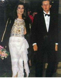 Caroline, (then) Princess of Monaco with husband Stefano Casiraghi.