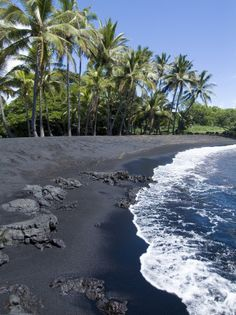 Black beaches at Hawaii