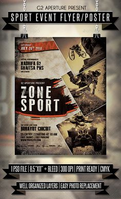 Buy Sport Event Flyer / Poster by on GraphicRiver. Sport Event flyer templates or poster template designed to promote any kind of music event, concert, festival, party . Event Poster Design, Creative Poster Design, Creative Posters, Cool Posters, Flyer Design, Design Design, Graphic Design, Powerpoint Design Templates, Event Flyer Templates