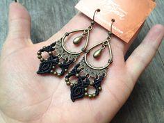 Macramé earrings boho jewelry custom order by creationsmariposa