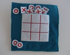 Tic tac toe Quiet Book Page Build a by BusyBookBuilders on Etsy
