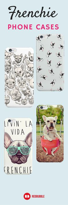 Seriously though, is there actually anything cuter than #frenchbulldogs? If you can't get enough, we've got #frenchie phone cases on Redbubble.