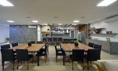 gourmeteria, churrasqueira, área de lazer residêncial projeto E3 ARQUITETURA, piso Portobello