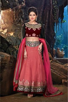 Pink and Maroon Colour Silky Net Fabric Designer A Line Lehenga Choli Comes With Matching Blouse and Dupatta. This Lehenga Choli Is Crafted With Resham Work,Patch Border Work,Zari Work,Embroidery. Thi...