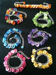 Button Charm Bracelet. $10.00, via Etsy.