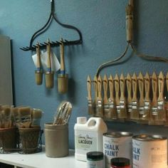 Diy rakes for storage - this is such a great idea and so simple!
