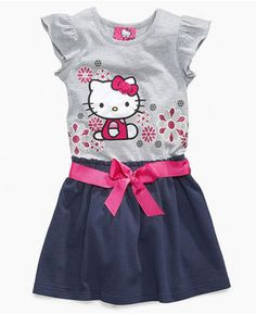 6f0eb1af5 Hello Kitty Kids Dress, Little Girls Flutter Sleeve Dress at ShopStyle  Hello Kitty Clothes,