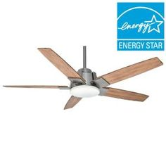 Casablanca Zudio 56 in. Brushed Nickel Ceiling Fan 59109 at The Home Depot - Mobile