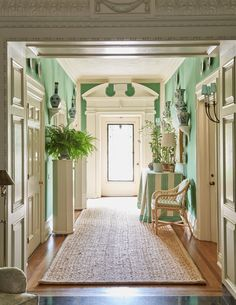 Are Green and White Rooms Coming Back Soon? by Mark D. He is fond of mixing green with blue accents. Green And White Bedroom, White Rooms, Blue Green Rooms, Home Interior, Interior And Exterior, Interior Design, Pavillion, Vert Turquoise, Hill Interiors