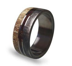 Meteorite Ring Titanium Ring with Gibeon Meteorite by ringordering
