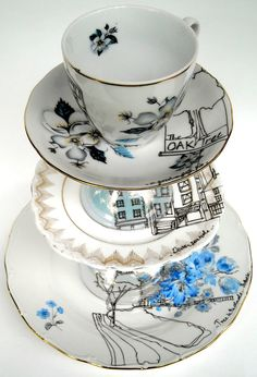 Places I Like To Go Cake Stand SALE by EstherCoombs on Etsy, £103.50  For Christmas please...