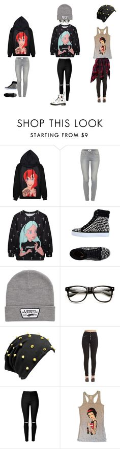 """Disney Punk"" by hellokitty-780 on Polyvore featuring Paige Denim, Jeffrey Campbell, Vans, Disney and Dr. Martens"
