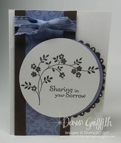 Tunnel card using Stampin' Up stamp set -Thoughts & Prayers