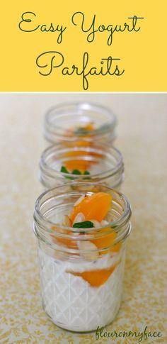 easy yogurt parfaits, Dole Fruit in Jar, yogurt, breakfast ideas