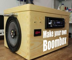 In this project I will show you how to create a Boombox that mainly consists of a car radio, salvaged speakers and two 12V lead acid batteries. This upgraded vers...
