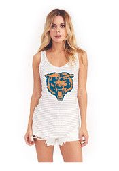Chicago Bears Womens Grey Time Out Tank Top Broncos Shirts, Football Shirts, Junk Food Clothing, Chicago Bears, Athletic Tank Tops, T Shirts For Women, My Style, Fashion Trends, Clothes