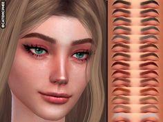 Contour Makeup, Eyebrow Makeup, Hair Makeup, Sims 4 Cc Eyes, Sims Cc, Natural Eyeshadow, Natural Eyebrows, The Sims 4 Skin, Sims 4 Anime