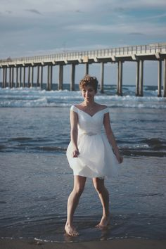 Anne Short Wedding Dress Organza by TheLittleWhiteDress on Etsy