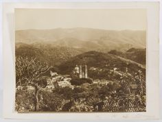 """Lot 361: Hugo Brehme (German, 1882-1954) """"Taxco Mexico"""" Photograph; Undated, signed on mat lower right, depicting a church within a country setting"""