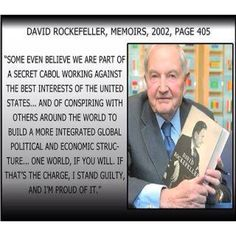 """Rockefeller thoughts on """"one world government"""" ....Still think we're conspiracy theorists?"""