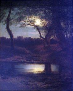 Lev Lvovich Kamenev (1833-1886) - moonlight light