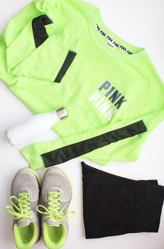 Neon Workout | @VSPink Present Perfection for Her #PINKmas