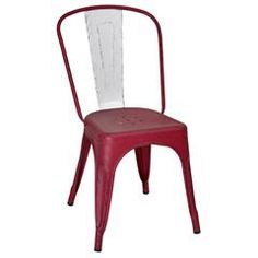 METAL CHAIR IN RED/WHITE COLOR 48X45X85