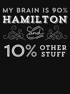 """""""My Brain is 90% Hamilton Vintage T-Shirt from the Hamilton Broadway Musical - Aaron Burr Alexander Hamilton Gift"""" Women's Fitted Scoop T-Shirt by trndsttrz 