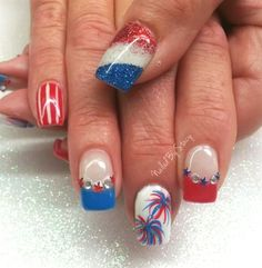 Independents Day Nails by NailedByStacy from Nail Art Gallery
