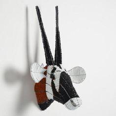 Beaded Oryx Bust Wall Decor  SKU#541220  Cost Plus World Market