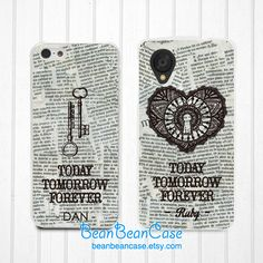 Couple matching case tomorrow lovers heart twin by BeanBeanCase, $19.99