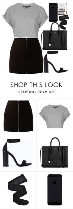 """Untitled #62"" by dreamcloset1996 ❤ liked on Polyvore featuring Topshop, Zara, Yves Saint Laurent and Fogal"