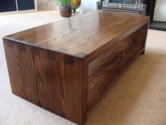 Chunky solid ash coffee table with feature finger joint construction.